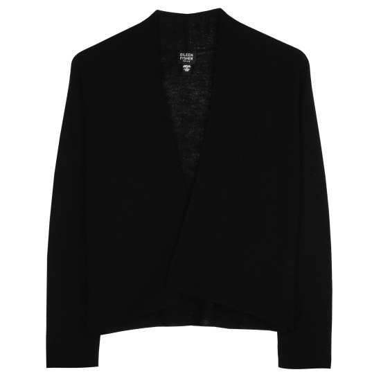 Washable Wool Fine Crepe Cardigan