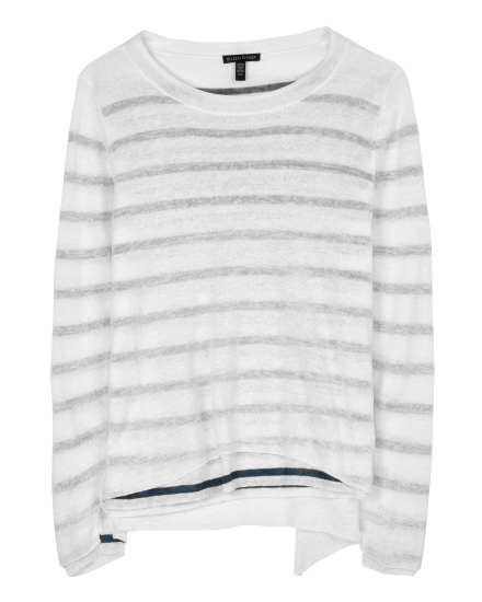 Linen Crepe Knit Pullover