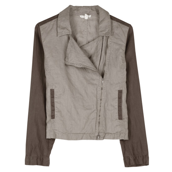 Coated Organic Linen Jacket