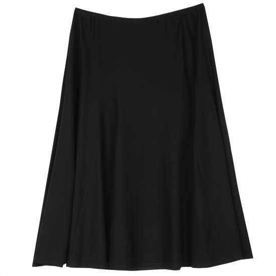 Lightweight Washable Stretch Crepe Skirt