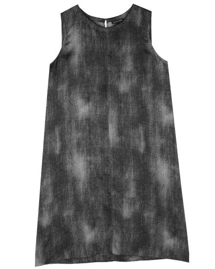 Hazy Printed Silk Cotton Dress