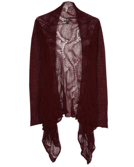 Rayon Linen Nylon Lace Cardigan