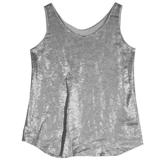 Antique Sequin Silk Vest