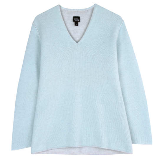 Tonal Pleated Cashmere Pullover
