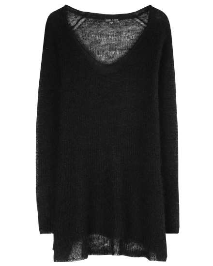Washed Mohair Pullover