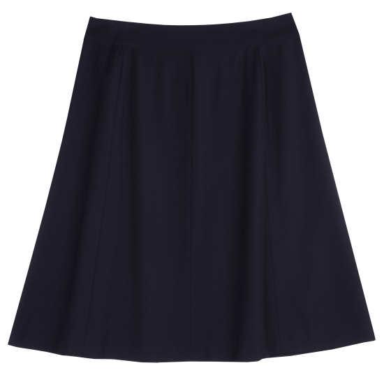 Tropical Viscose Wool Stretch Skirt