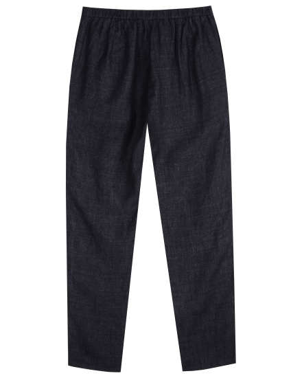 Washed Organic Linen Delave Pant