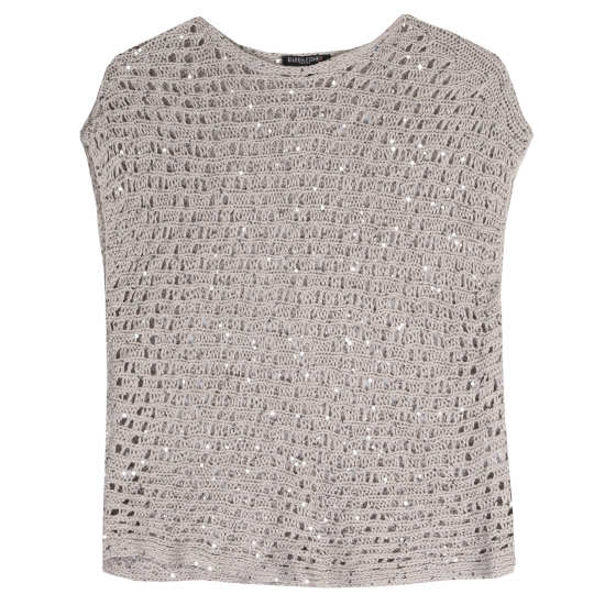 Sequins Chainmail Mesh Pullover