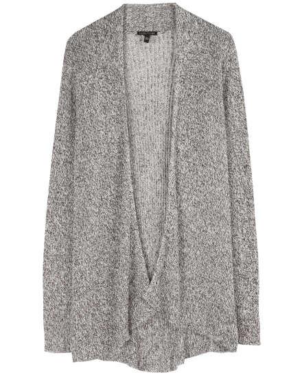 Washable Wool & Organic Linen Rib Cardigan