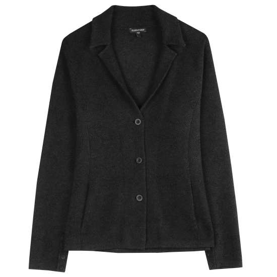Felted Merino Cotton Diagonal Jacquard Jacket