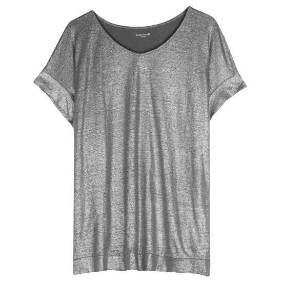 Linen Jersey Shimmer Blouse