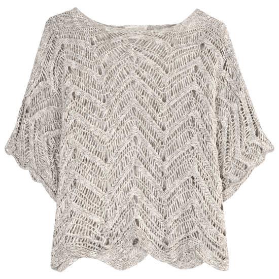 Cotton Wonder Scallop Pullover