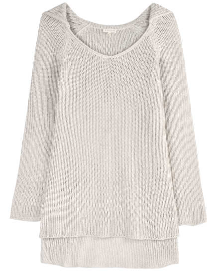 Organic Cotton Knit Rib Ladder Pullover