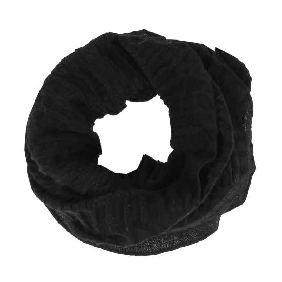 Pleated Wool Gauze Scarf