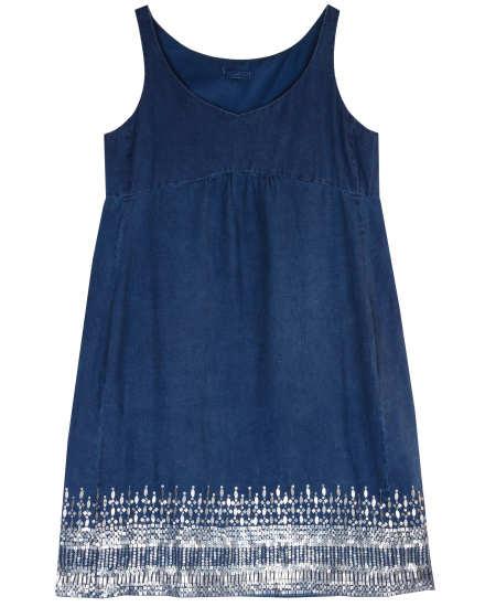 Linen Melange Sheen Dress