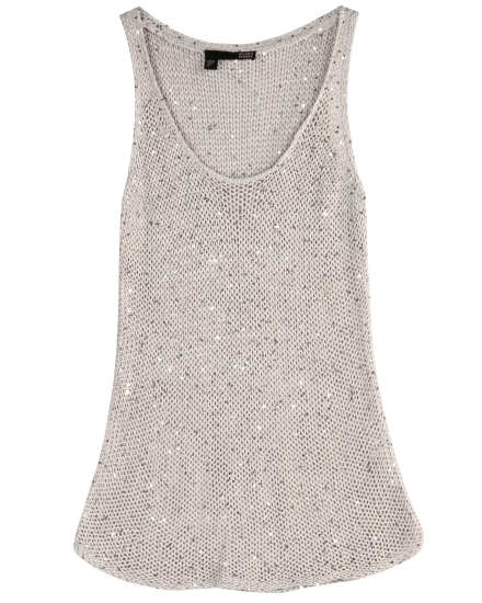 Sequin Chainmail Knit Tank