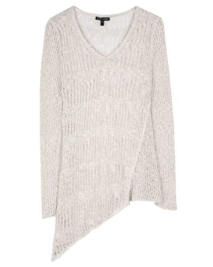 Airy Mélange Linen Grain Pullover