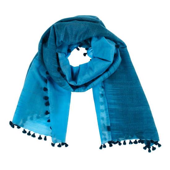Handloomed Wool Silk Ikat Scarf