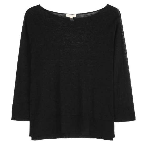 Fine Linen Crepe Knit Pullover