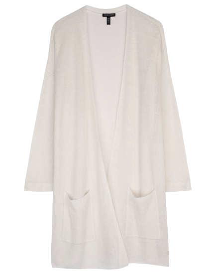 Fine Organic Linen Crepe Knit Cardigan