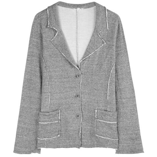 Double-Layer Ripple Knit with Recycled Cotton Jacket