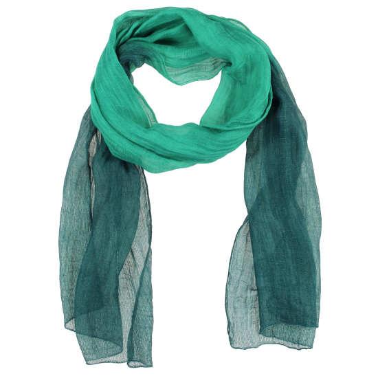 Handloomed Silk Linen Dip Dye Scarf