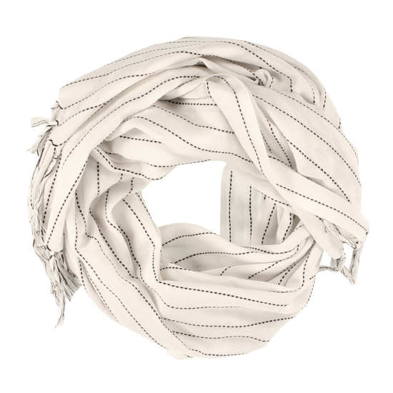 Organic Cotton Wide Stitch Stripe Scarf