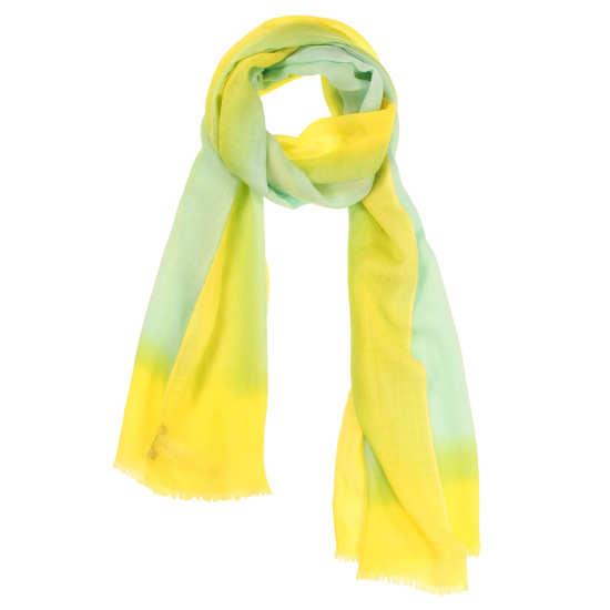 Neon Border Silk Wool Scarf
