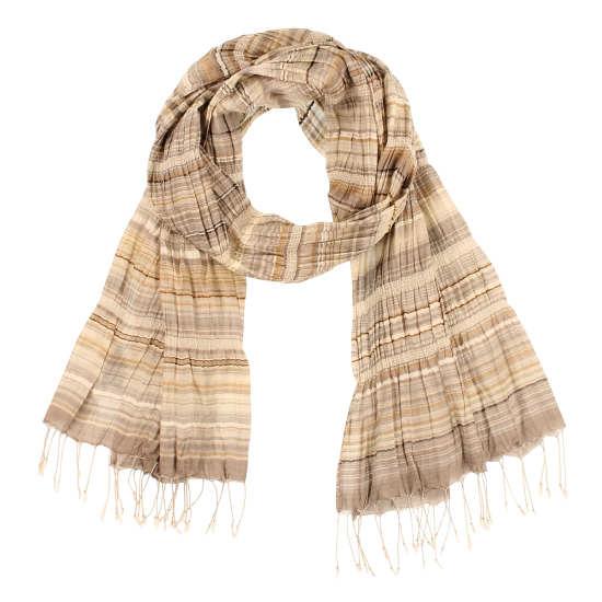 Handloomed Silk Stripe Scarf