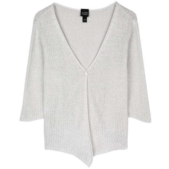 Open Silk Linen Mesh Cardigan