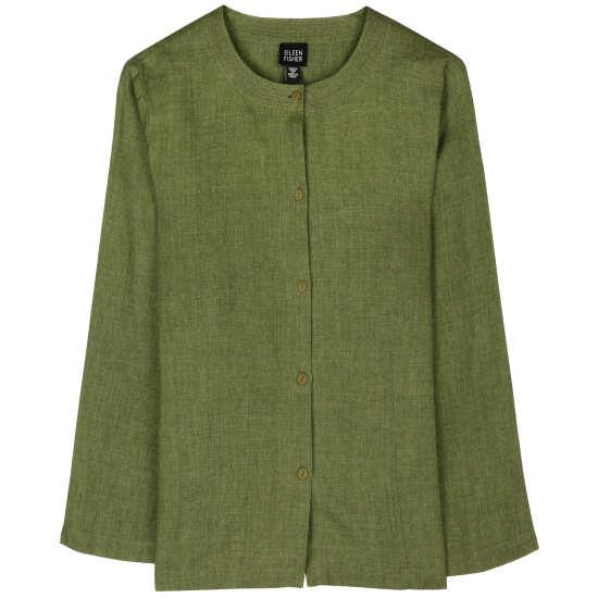 Cross-Dye Linen Blouse