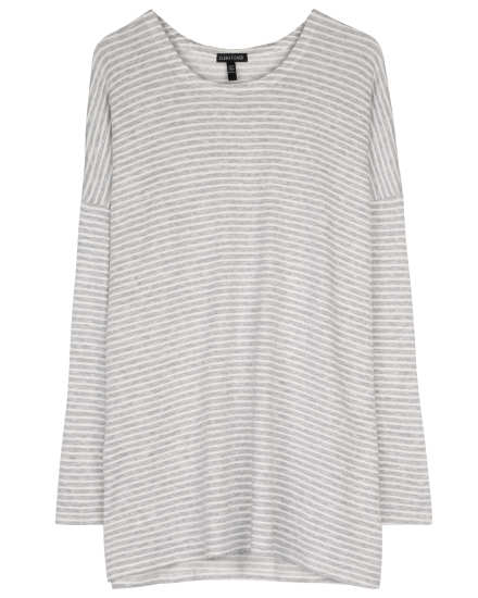 Tencel Stretch Terry Stripe Pullover