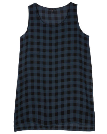 Buffalo Check Printed Silk Dress
