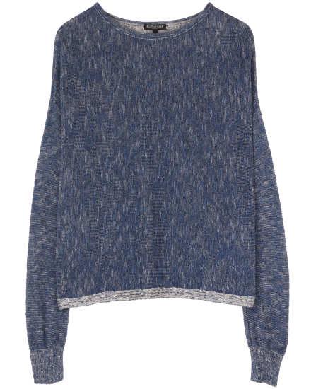 Plaited Organic Linen & Cotton Pullover
