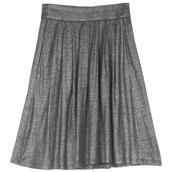 Organic Linen Jersey Shimmer Skirt