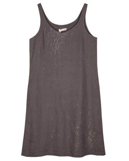 Handkerchief Linen With Sequins Dress