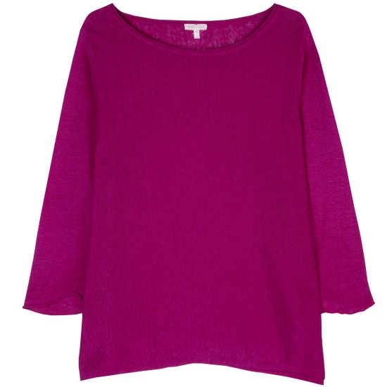 Lightweight Fine Gauge Organic Linen Pullover