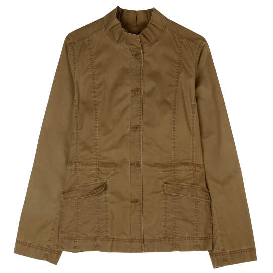 Washed Cotton Tencel Twill Jacket