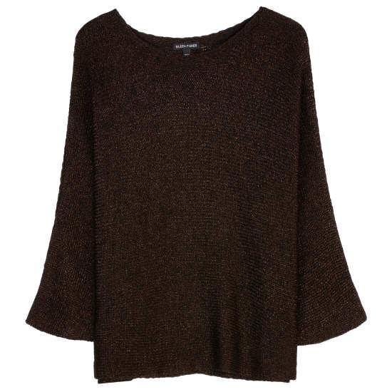 Organic Linen Shimmer Chainette Pullover