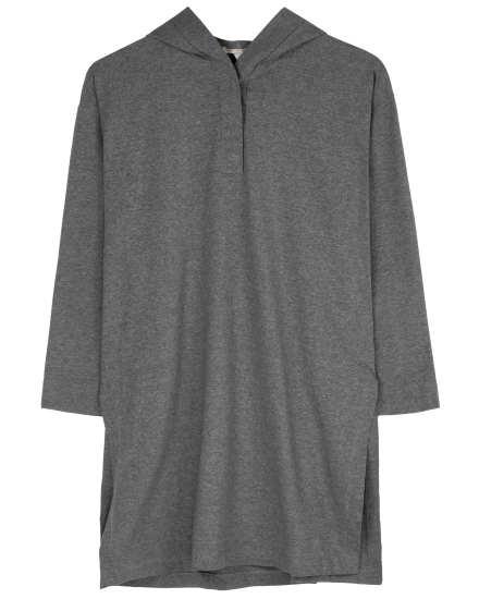 Heathered Organic Cotton Stretch Jersey Tunic