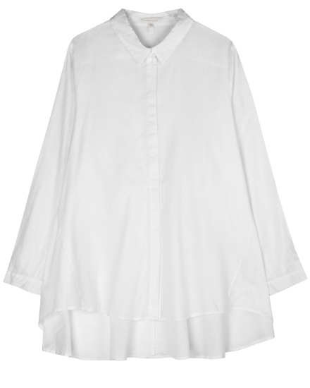 Organic Cotton Twill Voile Blouse