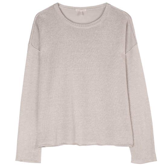 Organic Linen Fine Gauge Knit Pullover