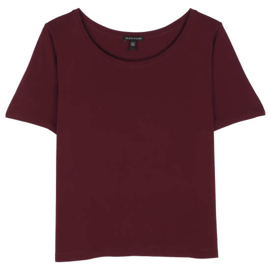 Stretch Silk Jersey Tee