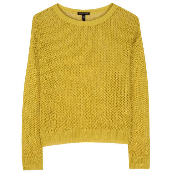 Organic Linen Fisherman's Knit Pullover