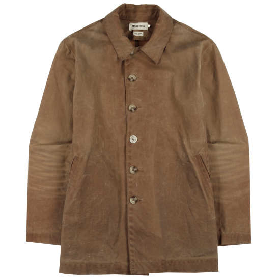 Brush Brown Waxed Wayfaring Jacket