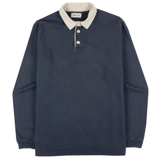 Dusty Blue Heavyweight Rugby Shirt