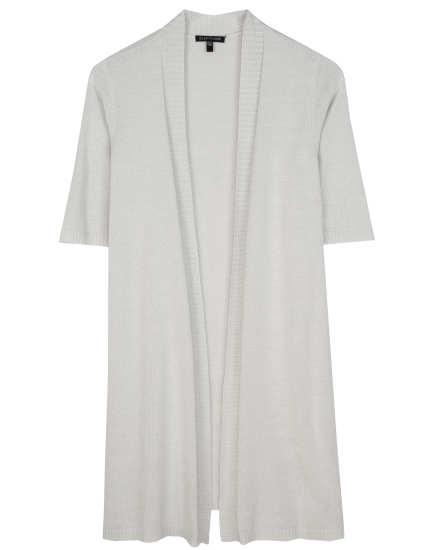 Cotton Silk Cord Jersey Cardigan