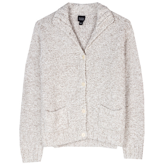 Linen Cotton Boucle Jacket