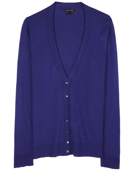 Fine Merino Tencel Cotton Cardigan