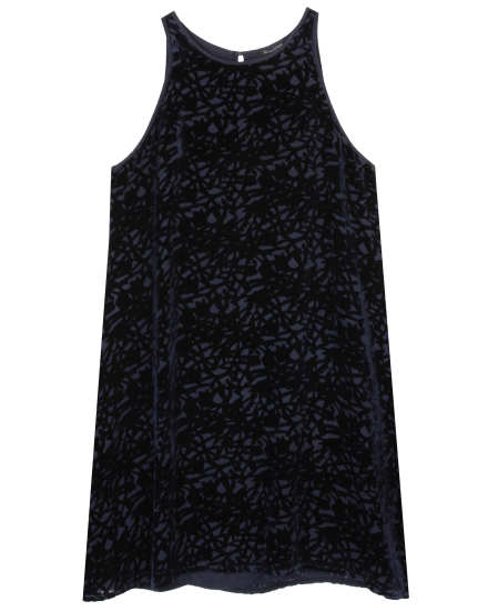 Velvet Vines Burnout Dress